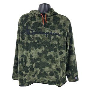 Champion Camo Fleece Pullover Hoodie L Camouflage